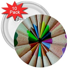 Pen Crayon Color Sharp Red Yellow 3  Buttons (10 pack)  by Nexatart