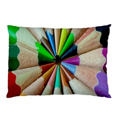 Pen Crayon Color Sharp Red Yellow Pillow Case (two Sides) by Nexatart