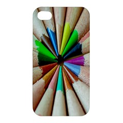 Pen Crayon Color Sharp Red Yellow Apple Iphone 4/4s Hardshell Case