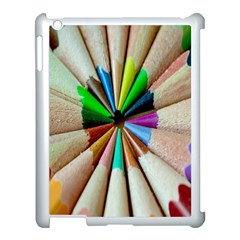 Pen Crayon Color Sharp Red Yellow Apple Ipad 3/4 Case (white) by Nexatart