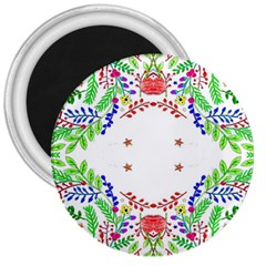 Holiday Festive Background With Space For Writing 3  Magnets by Nexatart