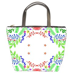Holiday Festive Background With Space For Writing Bucket Bags by Nexatart