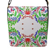 Holiday Festive Background With Space For Writing Flap Messenger Bag (l)