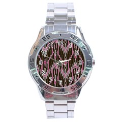 Pearly Pattern Stainless Steel Analogue Watch
