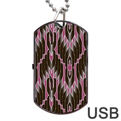 Pearly Pattern Dog Tag Usb Flash (one Side) by Nexatart