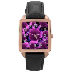 Hintergrund Tapete Keime Viren Rose Gold Leather Watch