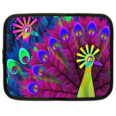 Peacock Abstract Digital Art Netbook Case (xxl)