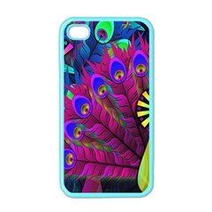 Peacock Abstract Digital Art Apple Iphone 4 Case (color)