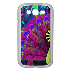 Peacock Abstract Digital Art Samsung Galaxy Grand Duos I9082 Case (white)