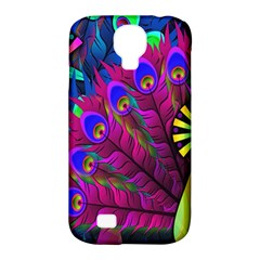 Peacock Abstract Digital Art Samsung Galaxy S4 Classic Hardshell Case (pc+silicone)