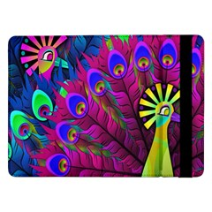 Peacock Abstract Digital Art Samsung Galaxy Tab Pro 12 2  Flip Case by Nexatart