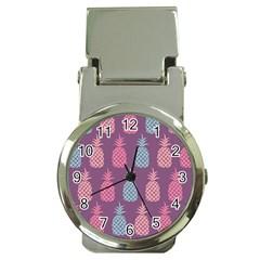 Pineapple Pattern  Money Clip Watches by Nexatart