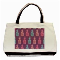 Pineapple Pattern  Basic Tote Bag by Nexatart