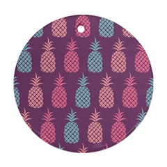 Pineapple Pattern  Round Ornament (two Sides) by Nexatart
