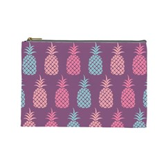 Pineapple Pattern  Cosmetic Bag (large)  by Nexatart
