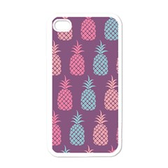 Pineapple Pattern  Apple Iphone 4 Case (white) by Nexatart