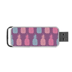 Pineapple Pattern  Portable Usb Flash (two Sides) by Nexatart