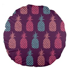 Pineapple Pattern  Large 18  Premium Round Cushions by Nexatart