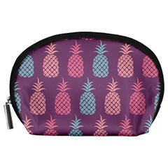 Pineapple Pattern  Accessory Pouches (large)  by Nexatart