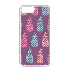 Pineapple Pattern  Apple Iphone 7 Plus White Seamless Case by Nexatart