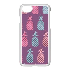 Pineapple Pattern  Apple Iphone 7 Seamless Case (white) by Nexatart