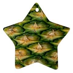 Pineapple Pattern Ornament (star) by Nexatart
