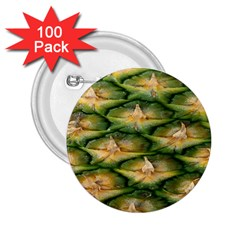 Pineapple Pattern 2 25  Buttons (100 Pack)  by Nexatart