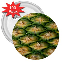 Pineapple Pattern 3  Buttons (100 Pack)