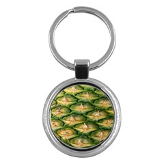 Pineapple Pattern Key Chains (round)  by Nexatart