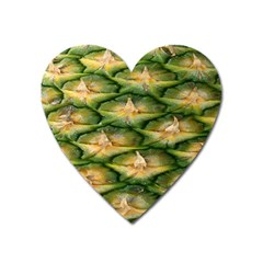 Pineapple Pattern Heart Magnet by Nexatart