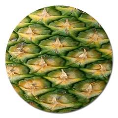 Pineapple Pattern Magnet 5  (round) by Nexatart