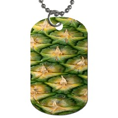 Pineapple Pattern Dog Tag (two Sides) by Nexatart