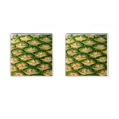 Pineapple Pattern Cufflinks (square) by Nexatart