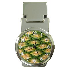 Pineapple Pattern Money Clip Watches by Nexatart