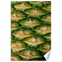 Pineapple Pattern Canvas 24  X 36  by Nexatart
