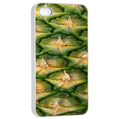 Pineapple Pattern Apple Iphone 4/4s Seamless Case (white) by Nexatart