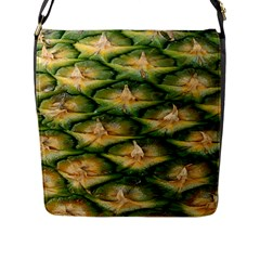 Pineapple Pattern Flap Messenger Bag (l)  by Nexatart