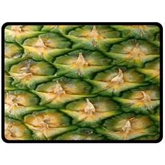 Pineapple Pattern Double Sided Fleece Blanket (large)