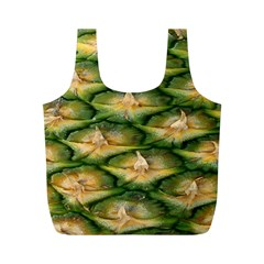 Pineapple Pattern Full Print Recycle Bags (m)  by Nexatart