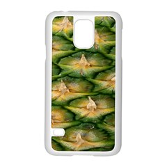 Pineapple Pattern Samsung Galaxy S5 Case (white) by Nexatart