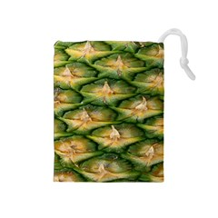 Pineapple Pattern Drawstring Pouches (medium)  by Nexatart