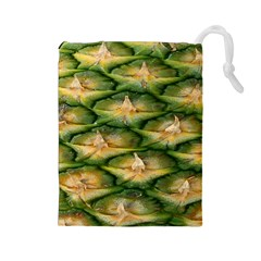 Pineapple Pattern Drawstring Pouches (large)  by Nexatart