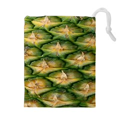 Pineapple Pattern Drawstring Pouches (extra Large) by Nexatart