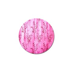 Pink Curtains Background Golf Ball Marker (4 Pack)