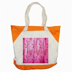 Pink Curtains Background Accent Tote Bag