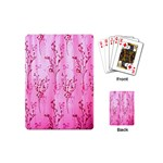 Pink Curtains Background Playing Cards (Mini)  Back