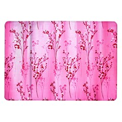 Pink Curtains Background Samsung Galaxy Tab 10 1  P7500 Flip Case by Nexatart