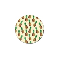 Pineapple Wallpaper Pattern Golf Ball Marker (10 Pack)