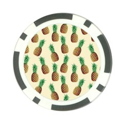 Pineapple Wallpaper Pattern Poker Chip Card Guard (10 Pack) by Nexatart