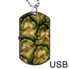 Pineapple Fruit Close Up Macro Dog Tag Usb Flash (two Sides)